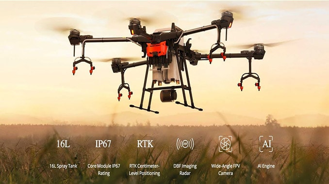 DJI's Agras T16 Agricultural Drone Displayed At The Solomon R. Guggenheim Museum