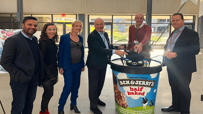 Terra Drone Europe and Unilever collaborate to deliver ice cream in New York