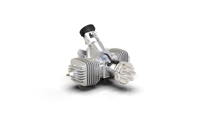 Sky Power Introduces The Smallest 2-stroke Boxer Engine SP-56