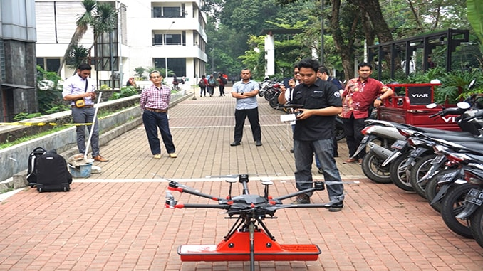 Terra Drone Indonesia detects underground utilities at Bandung Institute of Technology