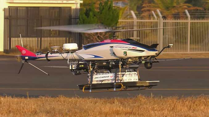 Yamaha and Japan Airlines Complete First UAV Helicopter Delivery Trial