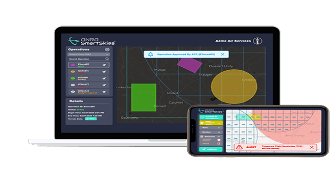 ANRA Technologies Launches SmartSkies Drone Airspace Authorization Platform