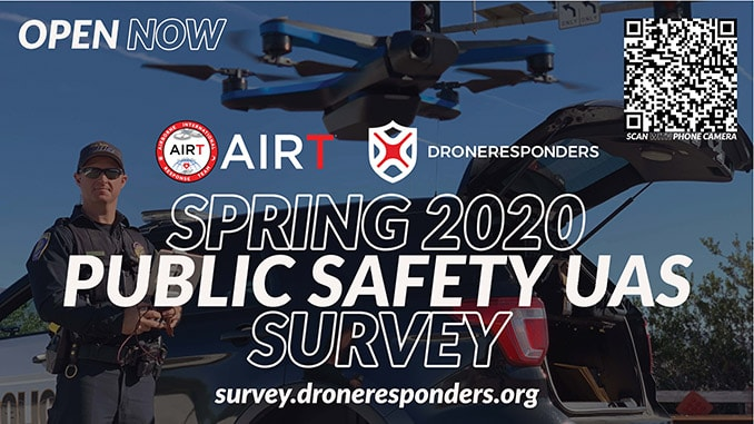 AIRT and DRONERESPONDERS Launch Spring 2020 Public Safety UAS Survey