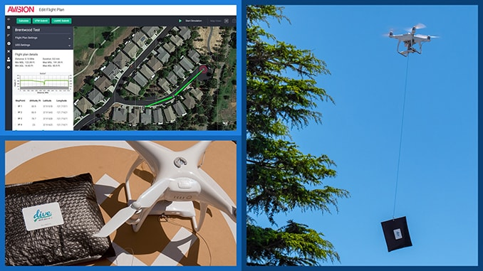 Dive Delivery Begins Backyard Drone Deliveries of Essential Goods in California