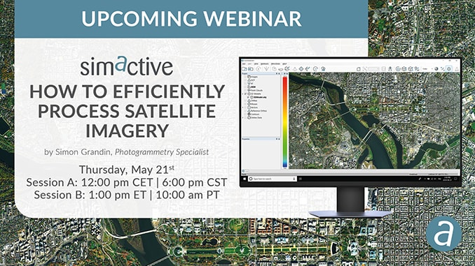 "SimActive Is Hosting Free Webinar ""How to Efficiently Process Satellite Imagery"""