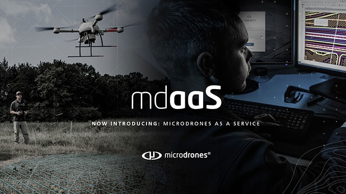Microdrones As A Service (mdaaS) Available Now: Professional Drone LiDAR And Drone Photogrammetry