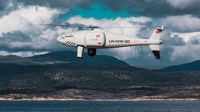 Schiebel Camcopter S-100 & Nordic Unmanned Carry Out World's First Full-scale Offshore UAV Flight For Equinor