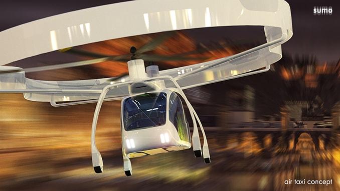 UAVOS Presented A Concept SumoAir Urban Air Taxi