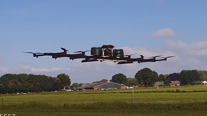 Tech Startups Develop A Powerful Spraying UAS With 50L Capacity