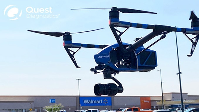 Walmart Now Piloting Drone Delivery of COVID-19 At-Home Self-Collection Kits