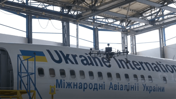 Ukrainian International Airlines, MAUtechnic and Luftronix Use Drone-Based Scanning for Automated Inspections