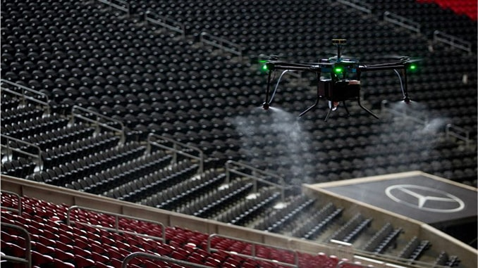 Mercedes-Benz Stadium Implements UAS Technology As Sanitization Protocol