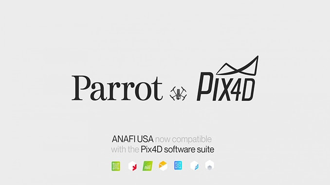 Industry leaders Parrot and Pix4D unite to offer the most complete professional solutions with ANAFI USA
