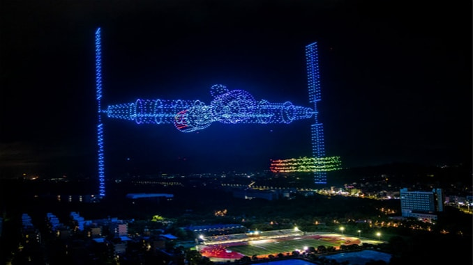 3,051 drones create spectacular record-breaking light show in China