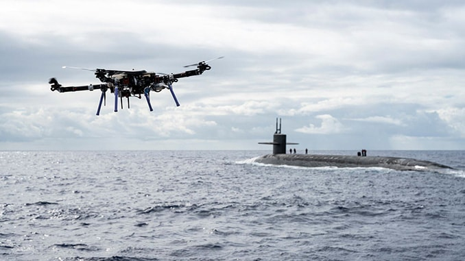 Skyfront Unveils Control Handoff Capability During First Drone Delivery to a Submarine