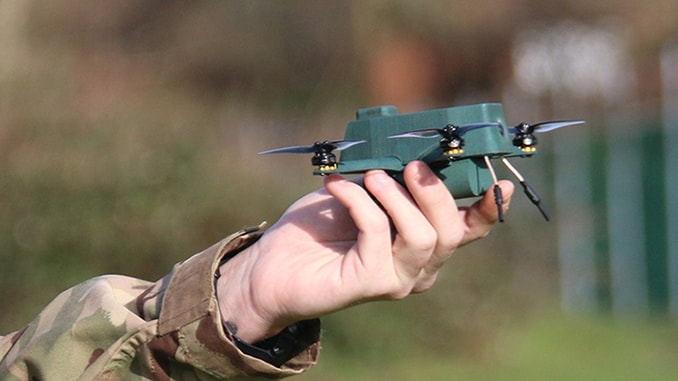 BAE Systems in collaboration with UAVTEK unveils nano 'Bug' drone