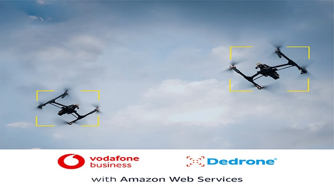 Dedrone announces partnership with Vodafone and Amazon Web Services