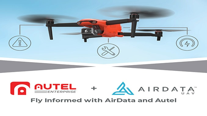 AirData and Autel Partner to Reduce Risk on Autel EVO II