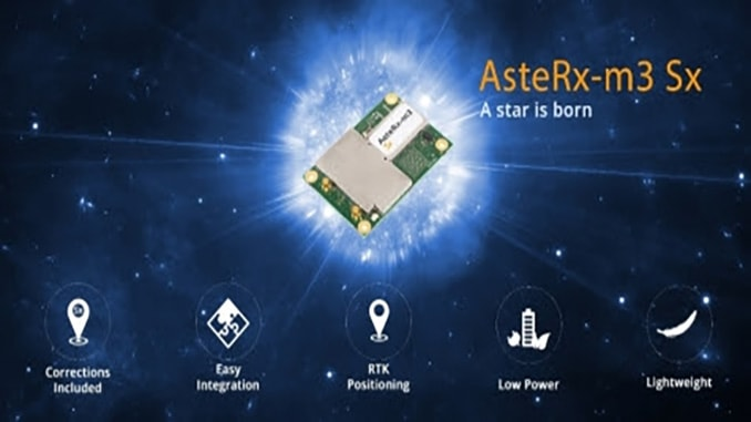 Ease-of-use of the AsteRx-m3 GNSS receiver family is now enhanced with always-on corrections