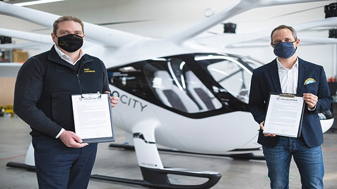 ADAC Luftrettung Reserves Two Volocopter Multicopters
