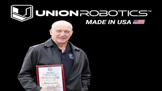 Union Robotics' Mike Davis Receives FAA's Highest Honor Award