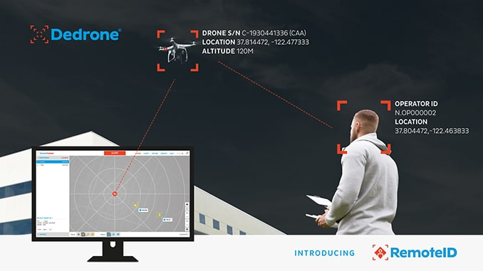 Dedrone First to Offer Both United States and European Union Drone Remote ID Capability