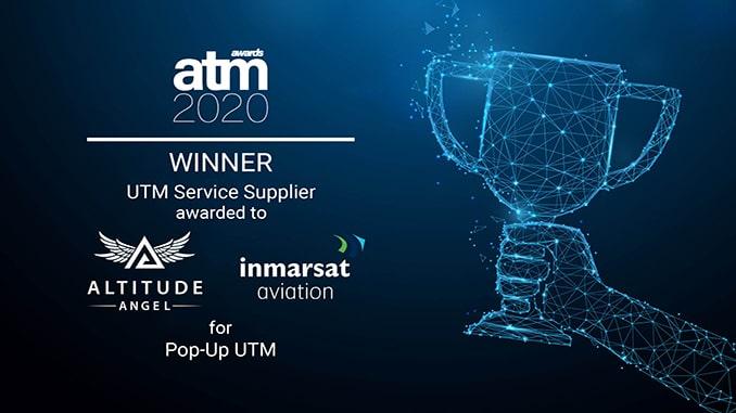 Altitude Angel and Inmarsat's groundbreaking pop-up UTM wins 2020 ATM award
