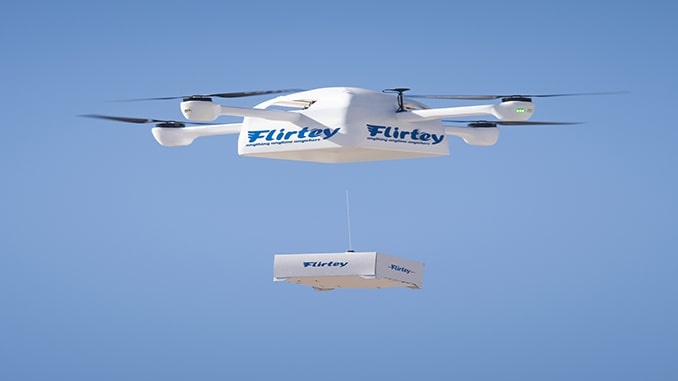 Flirtey and Vault Conduct Drone Deliveries of At-Home COVID-19 Test Kits