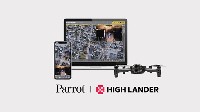 Parrot and High Lander enhance drone fleet automation