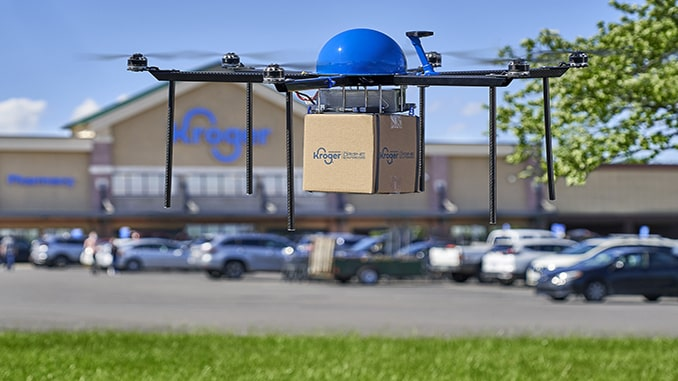 Kroger and Drone Express Partner to Provide Grocery Delivery by Drone