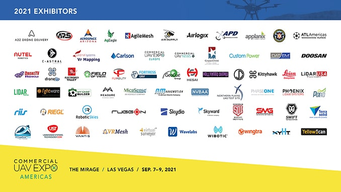 Commercial UAV Expo Americas Announces 70+ Exhibitors to Date for 2021 Event