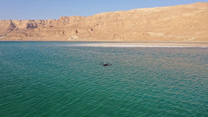 Bathymetric surveys with a UAV and an echo sounder successfully conducted in Israel