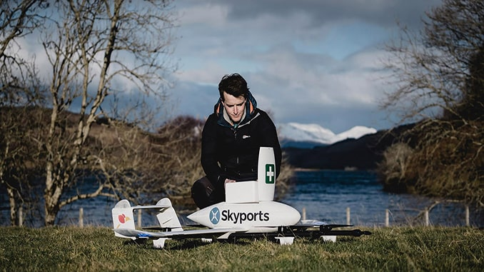 Skyports adopts Kongsberg Geospatial tool to enhance BVLOS drone deliveries