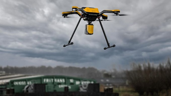 The YellowScan Mapper and Acecore Zoe combine to offer highly accurate point cloud data and flight versatility in one package