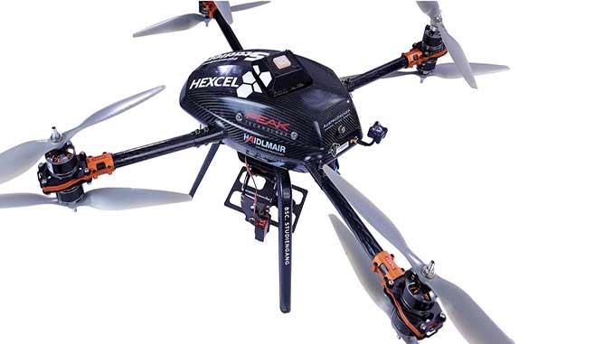 Hexcel Showcases Carbon Fiber Prepreg Capability for UAV Applications With Sponsorship of Austrian University Camera Drone