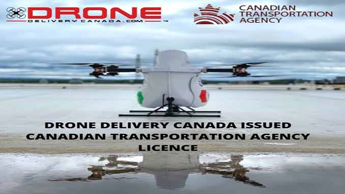 Drone Delivery Canada Issued Canadian Transportation Agency Licence