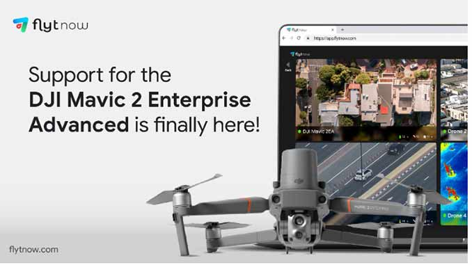 Drone-in-a-Box Automation Software FlytNow Announces Support for DJI Mavic 2 Enterprise Advanced