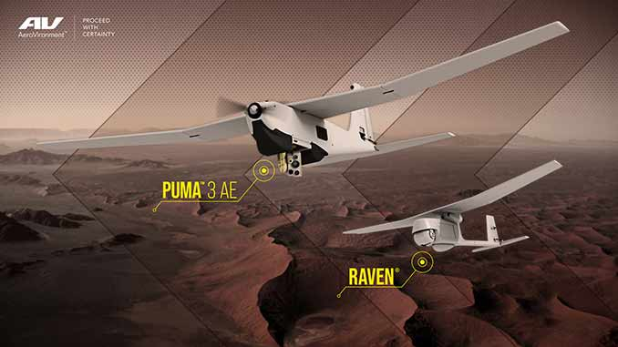 AeroVironment Receives Puma 3 AE and Raven UAS Orders Totaling $15.9 Million from USAF