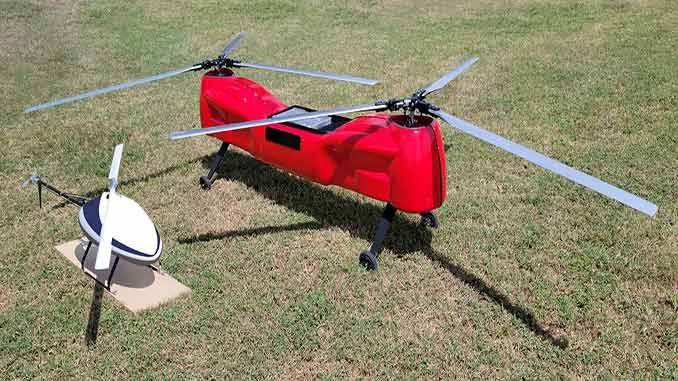 Sky Power and UAS Global Services present two new helicopters at AUVSI XPONENTIAL 2021