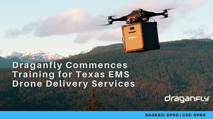 Draganfly Commences Training for Texas EMS Drone Delivery Services