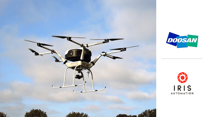 Iris Automation Partners with Doosan Mobility Innovation for Safer, Fuel Cell-Powered Drones