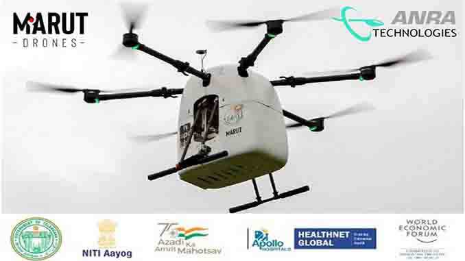 ANRA Delivers Medicines from the Skies in India