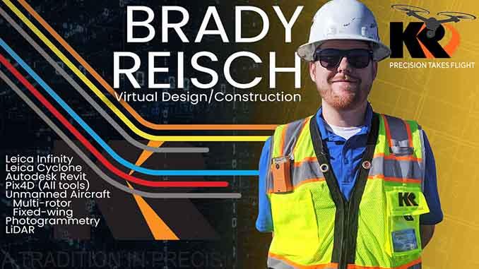 Kuker-Ranken Announces the Appointment of Brady Reisch, KR's Virtual Design/Construction Specialist